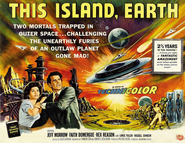1950s Movies Print featuring the photograph This Island Earth, Faith Domergue, Rex by Everett