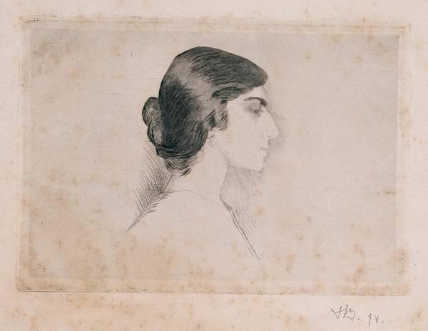 Self Portrait Print featuring the photograph Blood Florence, Self-portrait, 1898 by Everett