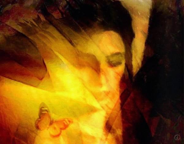 Digital Art Print featuring the digital art Butterfly Moment by Gun Legler