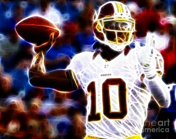 Rg3 Print featuring the photograph Football - Rg3 - Robert Griffin IIi by Paul Ward