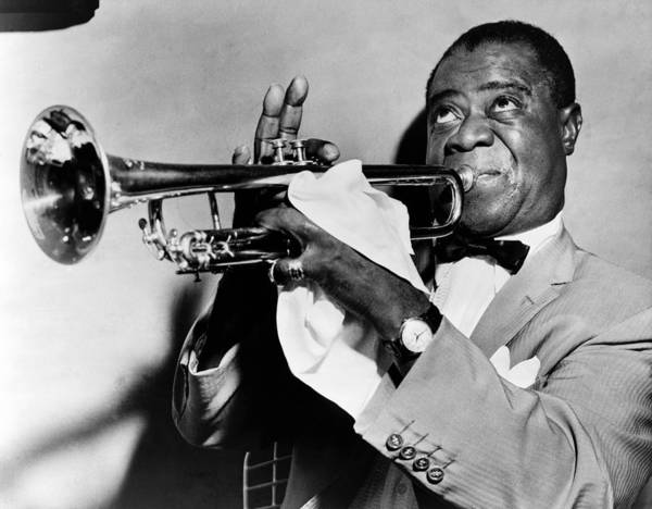 1953 Print featuring the photograph Louis Armstrong (1900-1971) by Granger