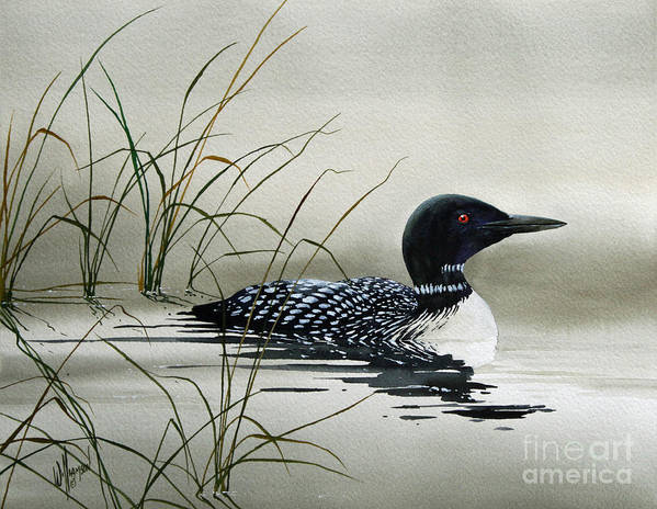 Loon Prints Print featuring the painting Nature's Serenity by James Williamson