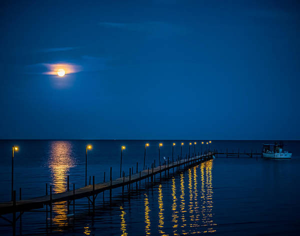 Moon Print featuring the photograph Reflections On Milacs by Paul Freidlund