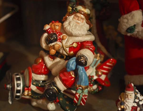 Santa Claus Print featuring the photograph Santa Claus - Antique Ornament -05 by Jill Reger