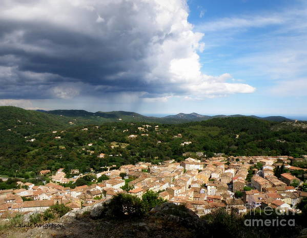 Provence Print featuring the photograph Sun And Rain by Lainie Wrightson