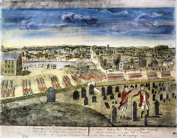 1775 Print featuring the photograph The Battle Of Concord, 1775 by Granger
