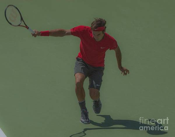 Roger Federer Print featuring the photograph The King Of Tennis by Terry Cosgrave
