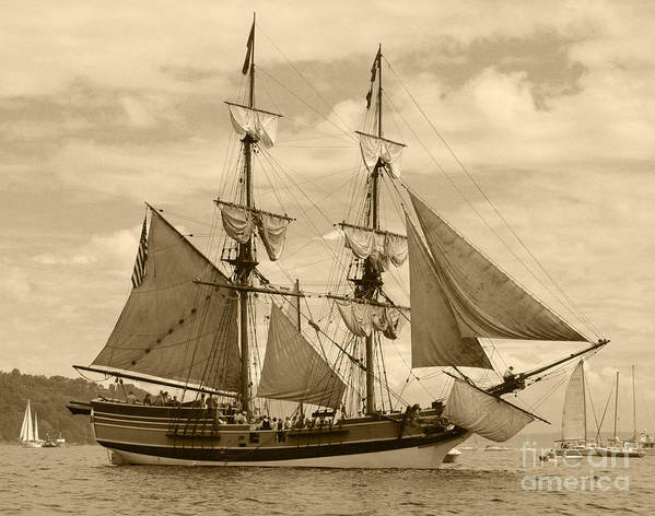 Transportation Print featuring the photograph The Lady Washington Ship by Kym Backland
