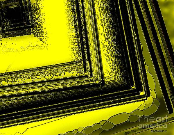 Yellow Art Print featuring the digital art Yellow Over Yellow Art by Mario Perez
