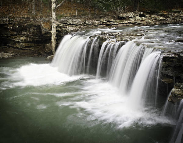 Arkansas Print featuring the photograph 0805-005b Falling Water Falls 2 by Randy Forrester