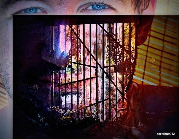 Challenge Print featuring the digital art Challenge Enigmatic Imprison Himself by Paulo Zerbato