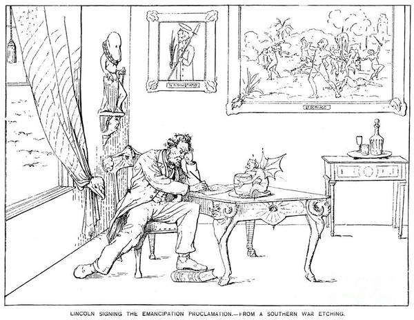 19th Century Print featuring the photograph Emancipation Cartoon by Granger