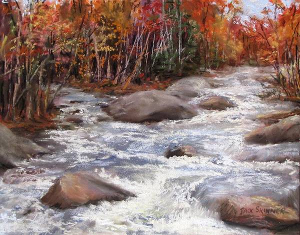 River Print featuring the painting Meeting Of The Waters by Jack Skinner