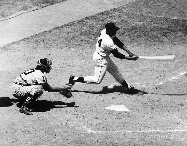 1959 Print featuring the photograph Willie Mays (1931- ) by Granger