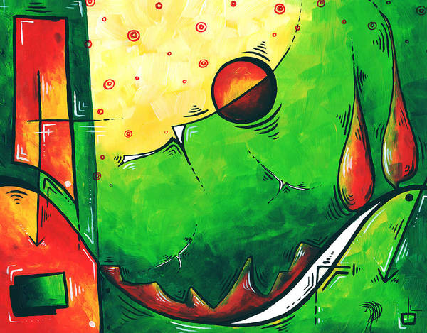 Abstract Print featuring the painting Abstract Pop Art Original Painting by Megan Duncanson