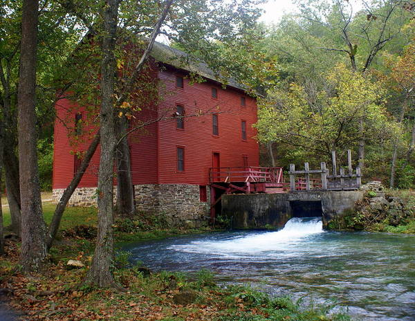 Ozarks Print featuring the photograph Alley Sprng Mill 3 by Marty Koch