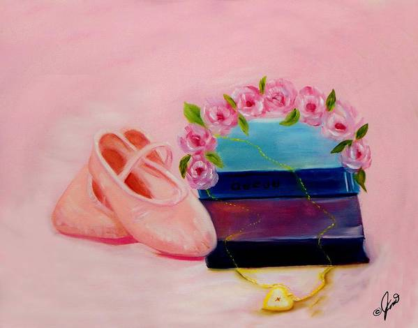 Ballet Print featuring the painting Ballet Still Life by Joni M McPherson