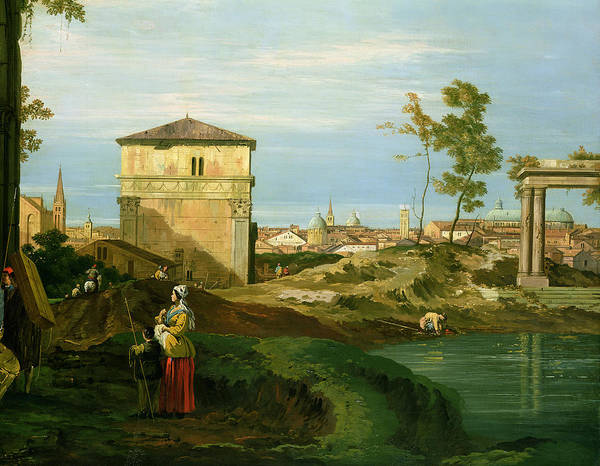Canaletto Print featuring the painting Capriccio With Motifs From Padua by Canaletto
