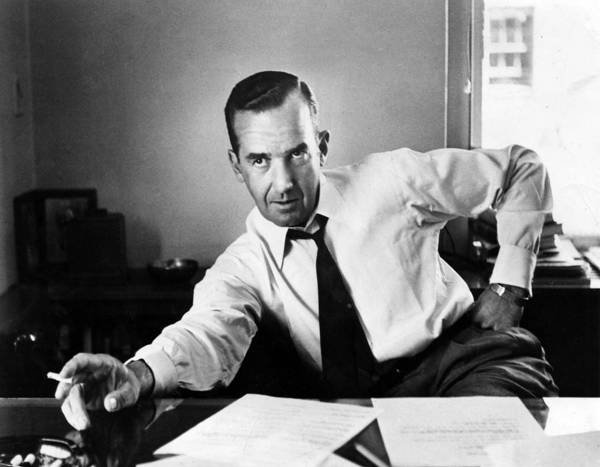 1950s Portraits Print featuring the photograph Edward R. Murrow, 1954 by Everett