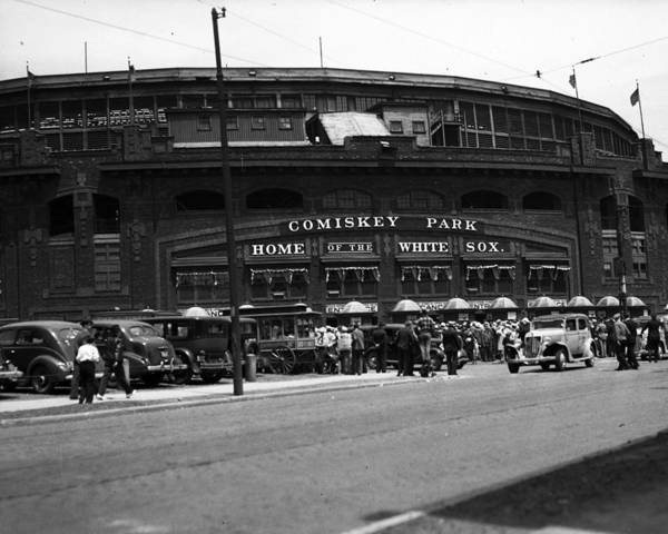 Comiskey Print featuring the photograph White Sox Home Comiskey Park by Retro Images Archive