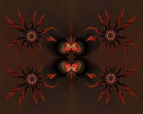 Digital Print featuring the digital art Algorithmic Flowers by Claude McCoy