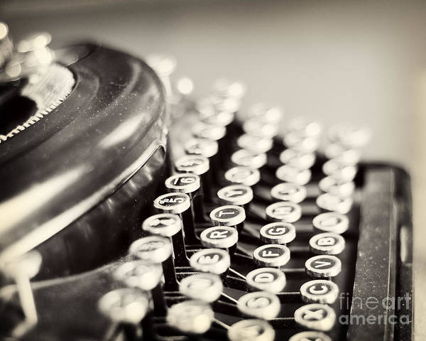 Antique Typewriter Print featuring the photograph Antique Typewriter by Ivy Ho