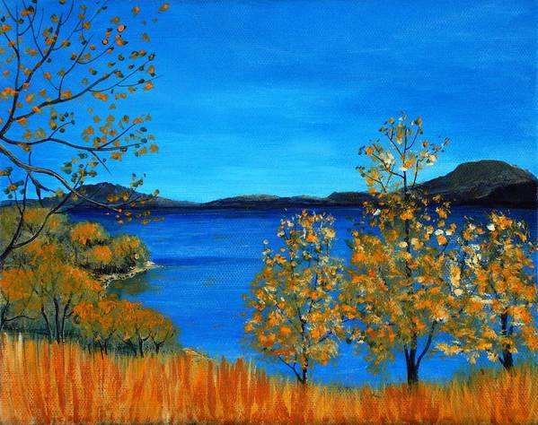 Malakhova Print featuring the painting Golden Autumn by Anastasiya Malakhova