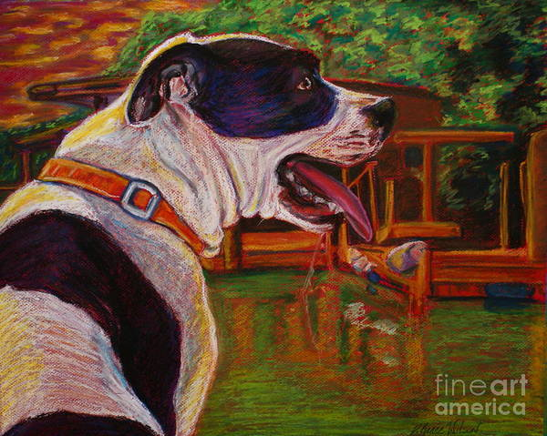 Pitbull Print featuring the painting Good Day On The Boat by D Renee Wilson