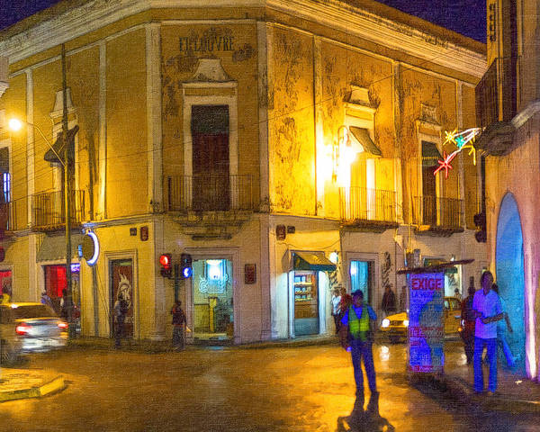 Merida Print featuring the photograph Hot Nights In The Yucatan by Mark E Tisdale
