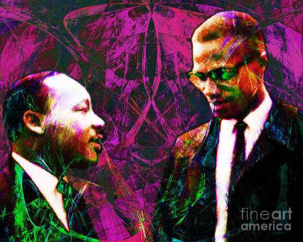 People Print featuring the photograph Malcolm And The King 20140205m68 by Wingsdomain Art and Photography