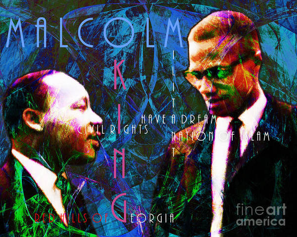 People Print featuring the photograph Malcolm And The King 20140205p180 With Text by Wingsdomain Art and Photography