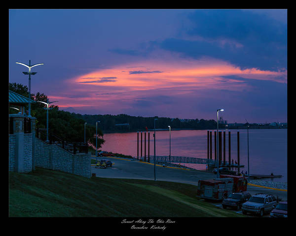 David Lester Print featuring the photograph Ohio River Sunset by David Lester
