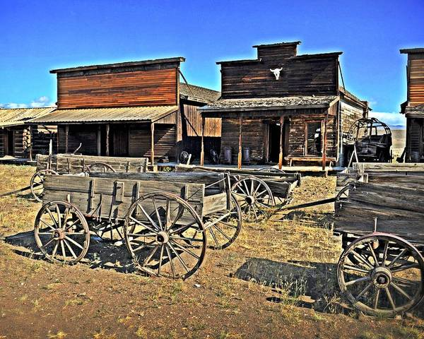 American West Print featuring the photograph Old Town Mainstreet by Marty Koch