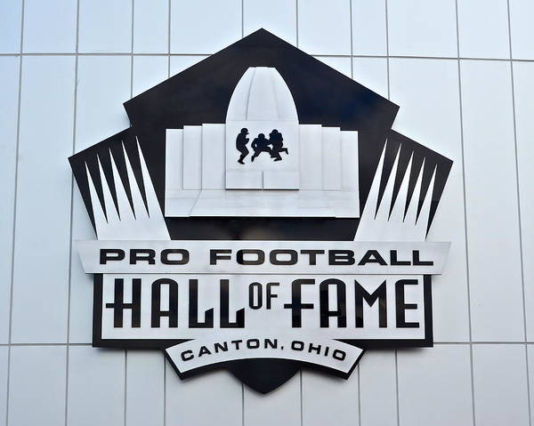 Pro Print featuring the photograph Pro Football Hall Of Fame by Frozen in Time Fine Art Photography