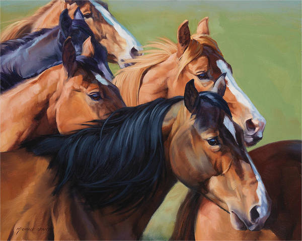 Michelle Grant Print featuring the painting Rush by JQ Licensing