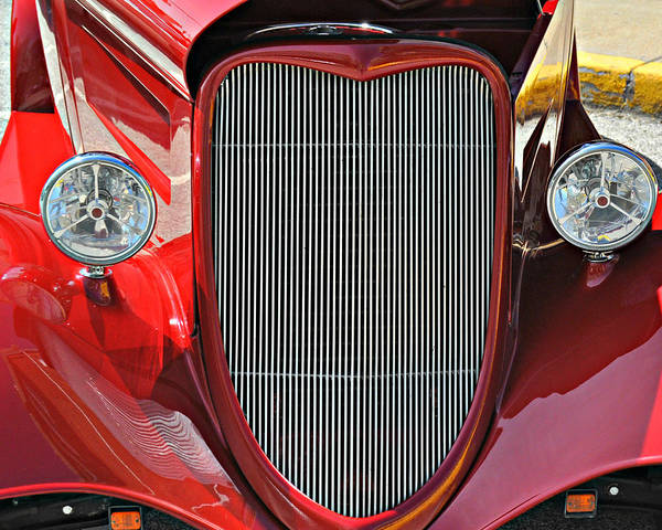 Classic Car Print featuring the photograph Shiny Red by Marty Koch