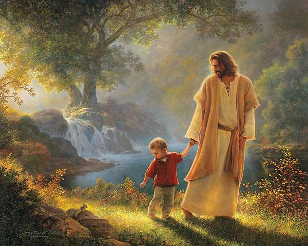 Jesus Print featuring the painting Take My Hand by Greg Olsen