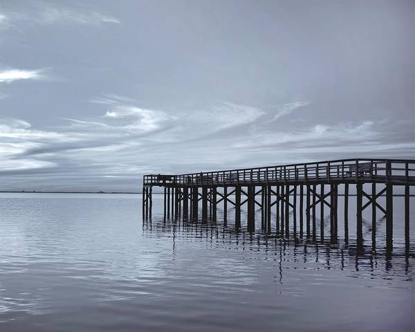 Pier Print featuring the photograph The Pier by Kim Hojnacki