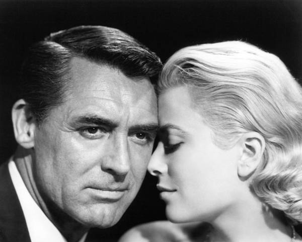 To Catch A Thief Print featuring the photograph To Catch A Thief Cary Grant And Grace Kelly by Silver Screen