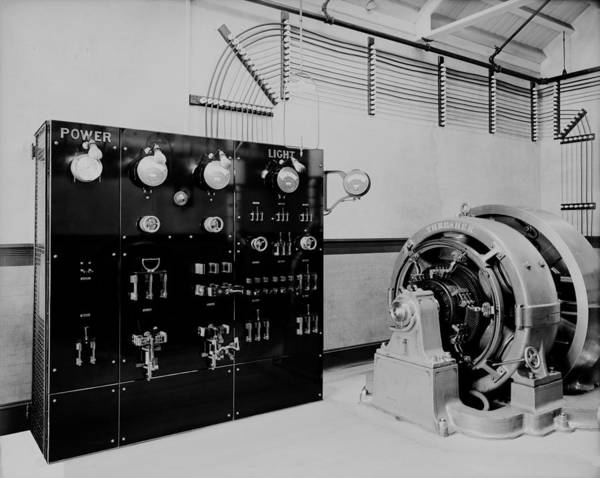 History Print featuring the photograph Control Panel And Dynamo Generator by Everett