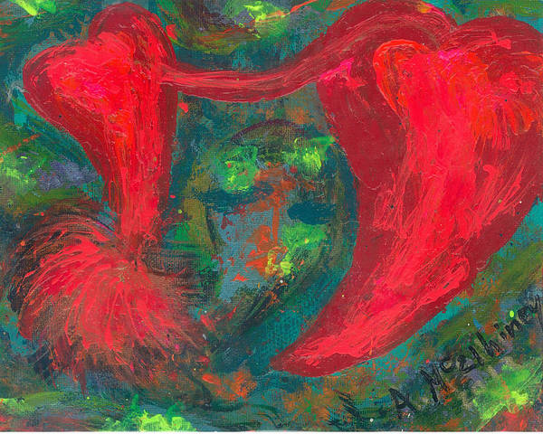 Women Print featuring the painting Have Hope In Your Heart by Annette McElhiney