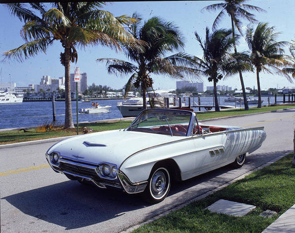 Horizontal Print featuring the photograph 1963 Ford Thunderbird by Fpg
