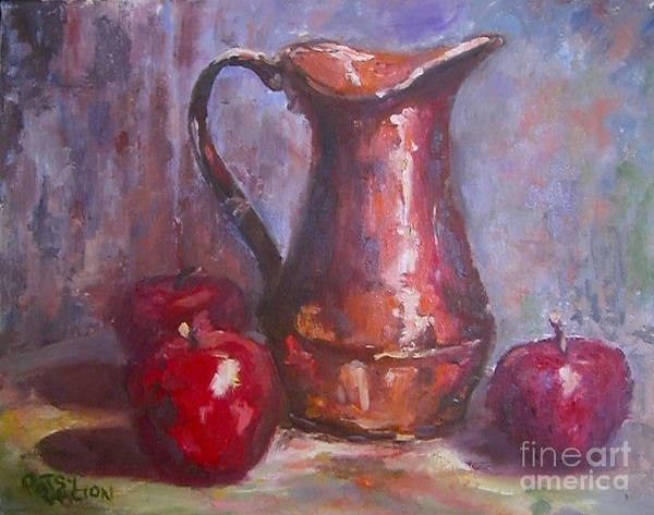 Copper Pitcher Print featuring the painting Copper Study by Patsy Walton