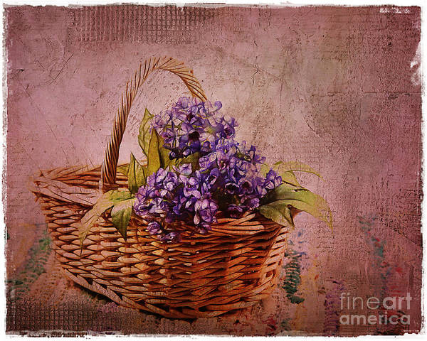 Flowers Print featuring the photograph Flower Basket by Judi Bagwell