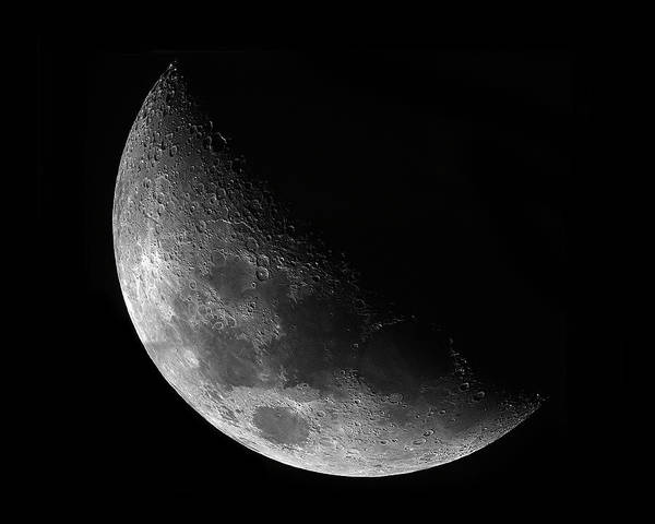 Waxing Gibbeous Moon Print featuring the photograph Gibbeous Moon by Charles Warren
