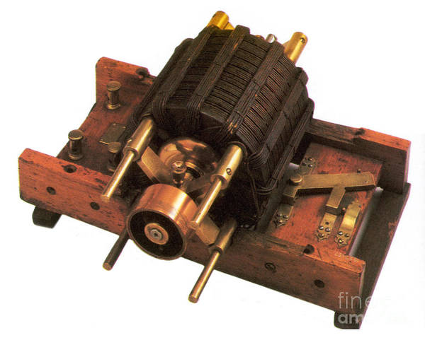 History Print featuring the photograph Induction Motor by Photo Researchers