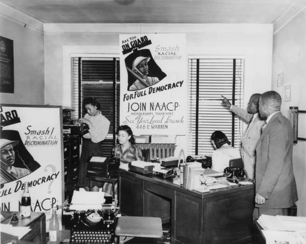 History Print featuring the photograph Interior View Of Naacp Branch Office by Everett
