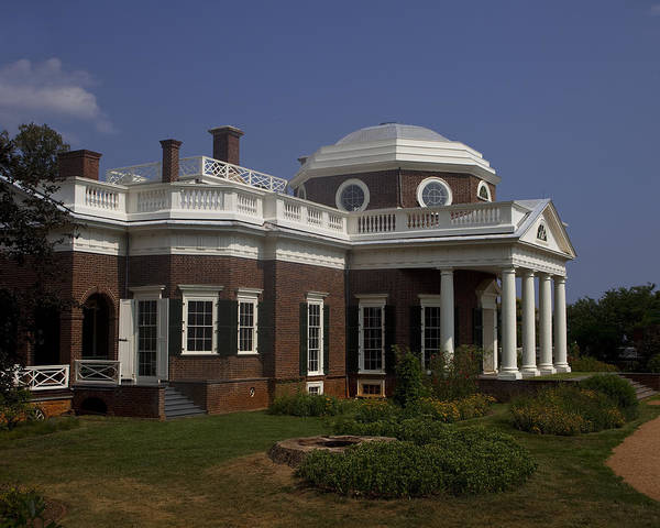 Monticello Print featuring the photograph Monticello by Andrew Soundarajan
