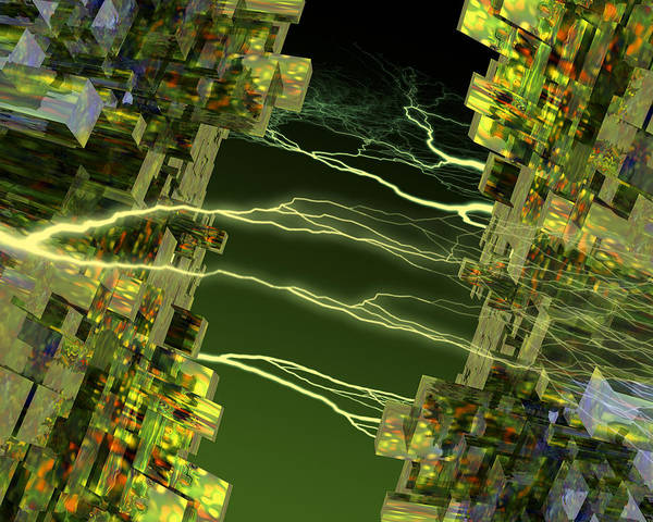 Central Processing Unit Print featuring the photograph Processor Power by Victor Habbick Visions