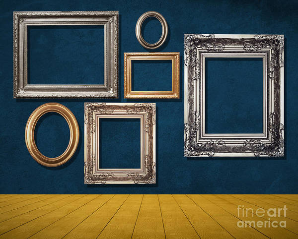 Abandoned Print featuring the mixed media Room With Frames by Atiketta Sangasaeng